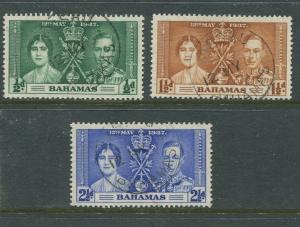 Bahamas #97-99 Coronation Used  Scott CV. $3.25