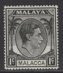 MALAYA MALACCA SG3 1949 1c BLACK MTD MINT