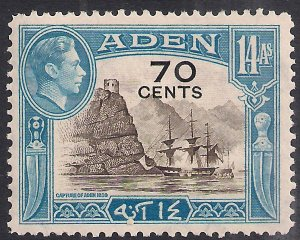 Aden 1951 KGV1 70 cents on 14 Annas Umm SG 42 ( H950 )