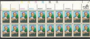 USA # 1744 Harriet Tubman  - Plate Block of 20    (1) Mint NH
