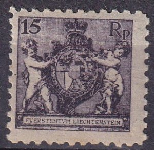 Liechtenstein  #61  F-VF Unused  CV $25.00 (Z3149)