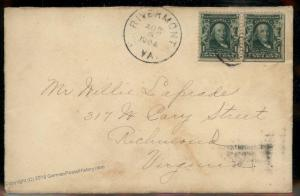 Virginia 1904 Rivermont VA Cancel DPO Helbock R5 Cover 92271