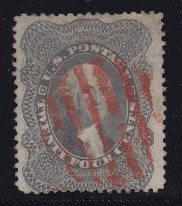 37 VF used neat red cancel with nice color cv $ 440 ! see pic !