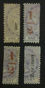 MOMEN: DOMINICA SG #10-12 1882-3 MINT OG H £371 LOT #62131