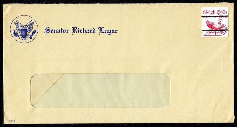U.S. #1900a This Cover is From the Desk of Senator Richard Lugar.