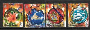 PITCAIRN ISLANDS SG700/3 2005 CHRISTMAS FINE USED