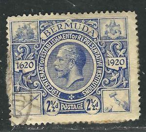 Bermuda 75 SG 69 Used  F/VF 1921 SCV $7.00