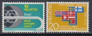 Switzerland 481-482 MNH VF