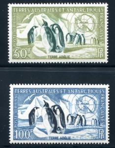 FRENCH SOUTHERN ANTARCTIC TERRITORY(FSAT)C1-C2 MINT LH PENGUIN