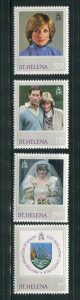 St. Helena MNH 372-5 Royal Wedding Princess Diana