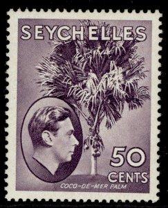 SEYCHELLES GVI SG144a, 50c deep reddish violet, M MINT. ORDINARY