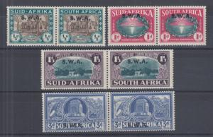 South West Africa Sc B5-B8 MLH. 1938 Voortrekkers Centenary, complete set
