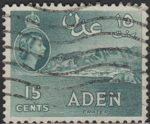 Aden 1962 QEII 15c Deep Greenish Grey Used