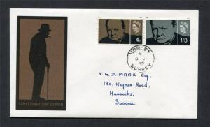 CHURCHILL FIRST DAY COVER WITH CDS CANCEL