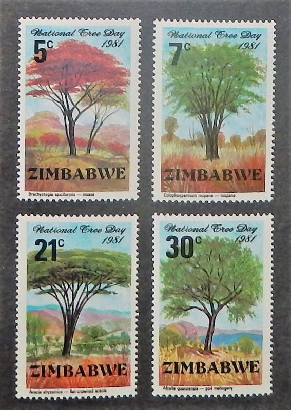 Zimbabwe MNH 442-5 National Tree Day 1981