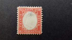 Sardinia - Scott 13a - King Victor Emmanuel II -1861-62 - MH - Single 10c Stamp