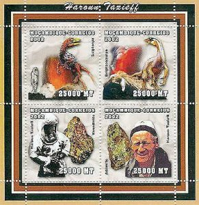 Mozambique - Tazieff & Nature - 4 Stamps Sheet  1615