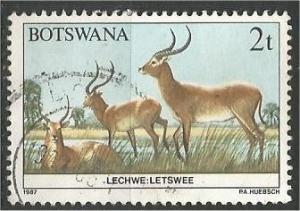 BOTSWANA, 1987, used 2t, Wildlife Conservation, Scott 405