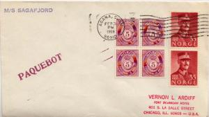 Guam Norway 5o Numeral (4) and 35c King Haakon VII (2) 1969 Agana, Guam Paque...