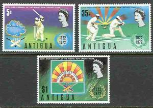Antigua # 297-99  Cricket Club   (3)  Mint NH