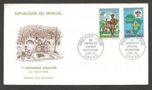 1970 Senegal Boy Scouts First African Conference FDC