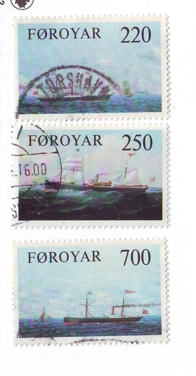 Faroe Islands Sc90-2 1983 Cargo Ships stamps used
