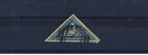 CAPE OF GOOD HOPE SG19c 4d STEELBLUE TRIANGLE F/USED
