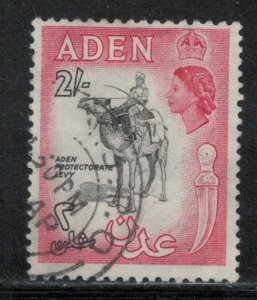 Aden 1956 Queen Elizabeth II Definitive 2sh Scott # 57A Used