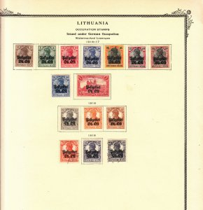 Russia under German Occupation - 1916/1918 stamp set Sc# N1/N12 on Scott page