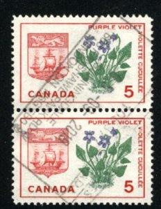 Can #421   pair   u   VF 1964 PD
