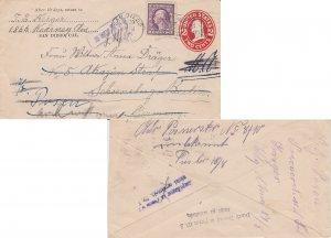 United States Washington Franklins 3c Washington Franklin on 2c Washington Ov...