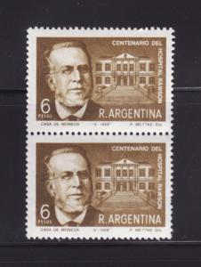 Argentina 859 Pair Set MNH Guillermo Rawson and Hospital (E)