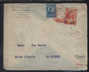COLUMBIA  (PP2404B) 30C/60C PROVISIONAL A/M ON COVER TO FRANCE,  SCARCE