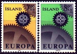Iceland. 1967. 409-10. Europe Sept. MVLH.