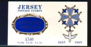 Jersey  366a-71a 1985 Hugenot Heritage stamp booklet mint NH