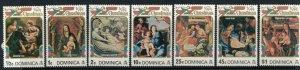 Dominica #411-17a* NH  CV $3.35  Christmas 1974 complete sets & Souvenir sheet