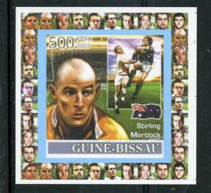 Guinea-Bissau 2007 Rugby Player Stirling Mortlock Deluxe s/s Mint (NH) VF