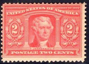 US Stamp Scott #324 Mint NH SCV $60