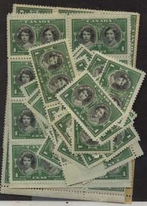 Canada - 1939 1c Royal Visit X 100 mint #246