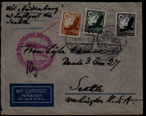 Germany Zeppelin cover 13.8.36 Plauen