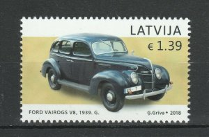 Latvia 2018 Cars, Ford MNH stamp