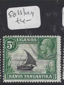 KENYA,UGANDA ,TANGANYIKA (P1710B)  KGV  5C  BOAT  SG 111   MOG