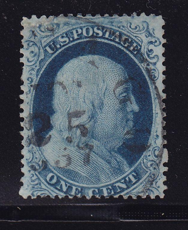 20  F-VF used neat cancel with nice color cv $ 275 ! see pic !