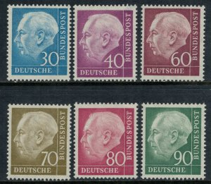 Germany #712-3,5-8*  CV $24.35  Pres. Heuss