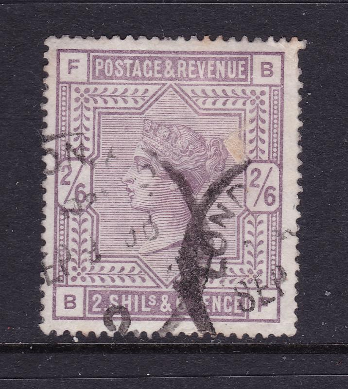 Great Britain a QV used 2/6 in reasonable condition