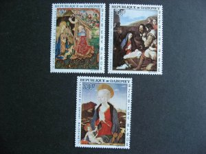 Dahomey 1966 Christmas Sc C46-8 MNH nice set, check it out!