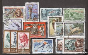 Russia Sc 2307/571 used 1960-61 issues, 15 diff F-VF