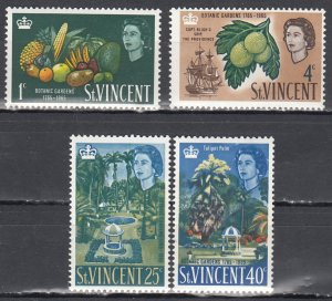 St. Vincent MNH 220-3 Botanical Gardens 1965