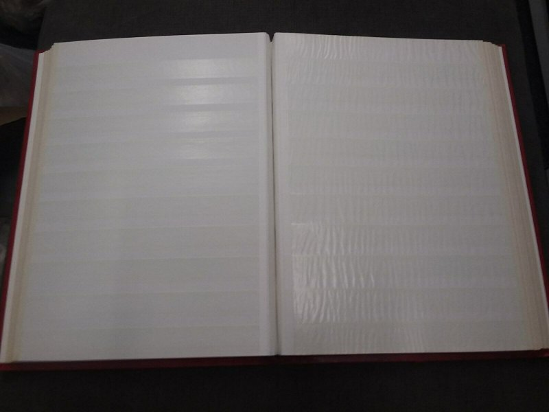 Red Supersafe Stamp Stock Book 16 Pages with 10 Glasines Strips Good Condition