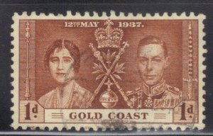 GOLD COAST  SC #112 **USED**  1p   1937   SEE SCAN
